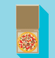 open pizza box flat style design - vector image