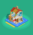 Home Repair Isometric Template vector image
