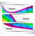 Set of rainbow banners vector image vector image