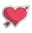 heart love drawing with arrow icon vector image