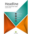 financial annual report in a4 cover design vector image