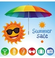 set with summer design elements vector image vector image