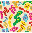 Multicolored flip flop pattern vector image