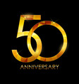 template 50 years anniversary congratulations vector image vector image