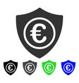euro protection flat icon vector image