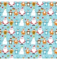 Seamless New Year pattern vector image