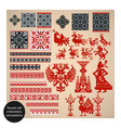 russian old embroidery vector image vector image
