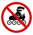 No roller skate vector image