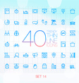 40 Trendy Thin Icons for web and mobile Set 14 vector image vector image