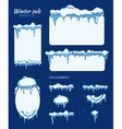 Winter sale stickers tags and banners with vector image