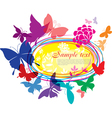 banner with colorful butterflies vector image vector image