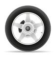 motorcycle wheel 01 vector image vector image
