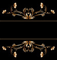 bright border of gold flowers vector image