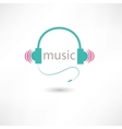 colored music headphones vector image