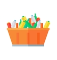 Container with Garbage vector image