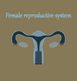 human organ icon in flat style female vector image
