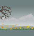 landscape with autumn nature vector image