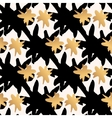 seamless pattern with gold and black star strokes vector image