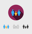silhouette family family icon vector image