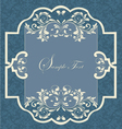 Vintage frame with damask seamless background vector image