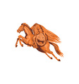 Headless Horseman Pumpkin Head Drawing vector image