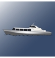 Boat for cruises on the sea vector image