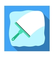 Squeegee icon in flat style isolated on white vector image