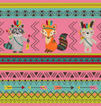 seamless pattern with tribal design vector image