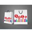 Sale design with shopping bags vector image