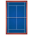 Blue badminton court layout vector image