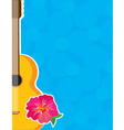 guitar hibiscus vector image vector image