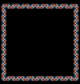 Geometric color ethnic frame on black vector image vector image