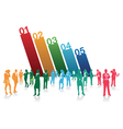 business people numbers vector image
