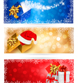 christmas banners with gift boxes vector image