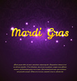 Mardi Gras beauty background vector image