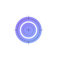 neon shooting target line icon vector image