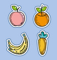 set delicious organ fruits and vegetable vector image