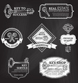 set of chalk badges labels logo templates and vector image