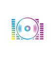 Sound dj equalizer logo vector image