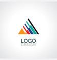 triangle stripe logo vector image