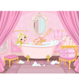 Young Princess Taking Bath vector image