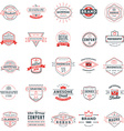 Set of retro logotype templates Collection of 25 vector image