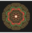 Hand Drawn Golden Mandala vector image