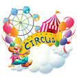 A female clown at the carnival vector image vector image