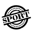 sport rubber stamp vector image