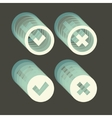 Approved and rejected icons set vector image vector image
