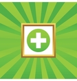 Medical sign picture icon 1 vector image vector image