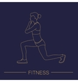 Sport fitness woman exercise workout silhouettes vector image