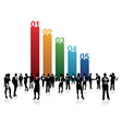 business people numbers vector image vector image