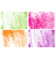 colorful grunge urban textures abstract vector image